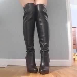 e6711be65b4 Jessica Simpson Shoes - Jessica Simpson Grandie Black Luxe Stretch Boots
